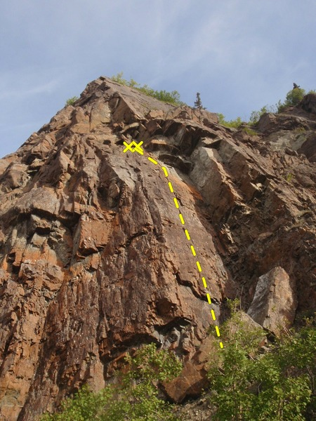 Y2K is the sport climb located just left of the approach trail.
