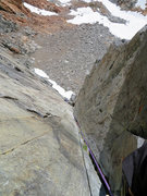 Rock Climbing Photo: Looking down the classic corner on Pitch 2 of the ...