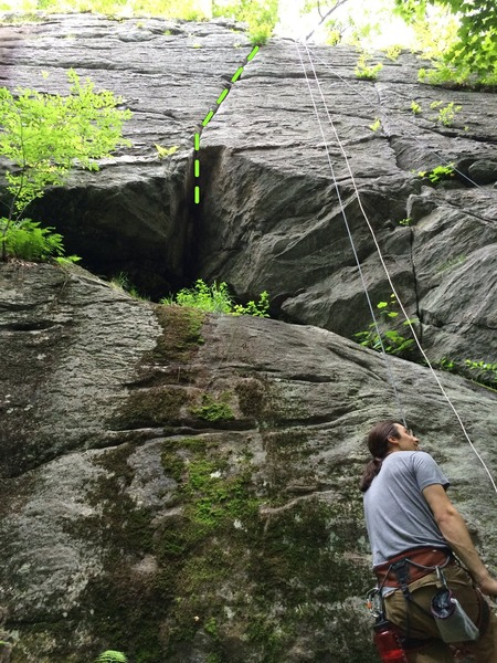 Rock Climbing Photo: Middle crack