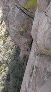 Rock Climbing Photo: Cody coming up