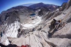 Rock Climbing Photo: Andrew on Northeast Ridge of Bear Creek Spire