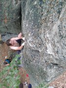 Rock Climbing Photo: Andrew on the Vulgarian Highball.