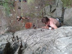Rock Climbing Photo: Andrew sinking bomber jams.