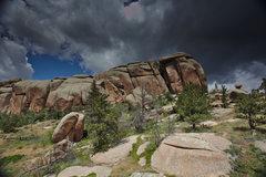 Rock Climbing Photo: Cupcake Boulder, Vedauwoo.