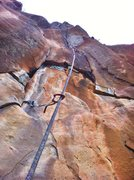 Rock Climbing Photo: The steep orange shield of LMA, Sine Wall, Paradis...