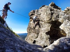 Leading the summit route on Mt. Doom