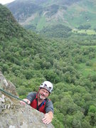 Rock Climbing Photo: Paul topping out P3