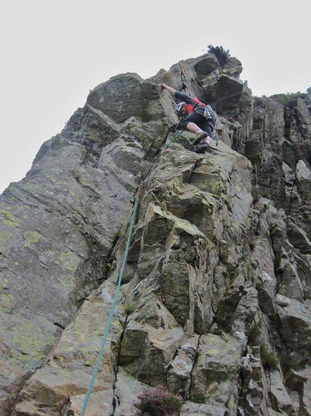 Rock Climbing Photo: Paul on P5 last pitch