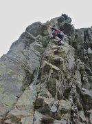Rock Climbing Photo: Paul on P5 last pitch