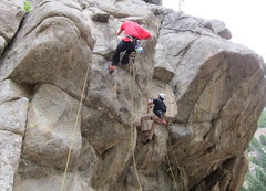 Rock Climbing Photo: Rope ascending in BoCan on a ClimbingLife Guides r...