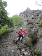 Rock Climbing Photo: Starting P1 with the Pinnacle 4 pitches above on t...