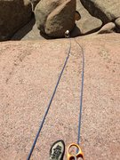 Rock Climbing Photo: The rap off Kim and many routes on top of this blo...