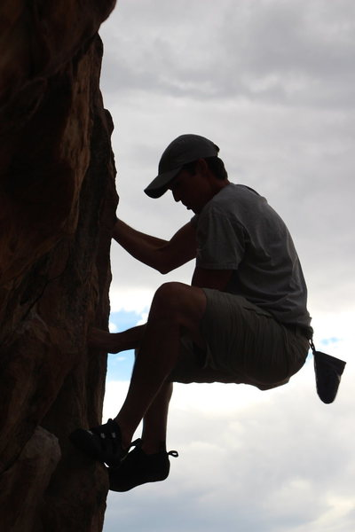 Rock Climbing Photo: Garret's too close not to get out to Riggs' Hill!