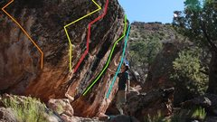Rock Climbing Photo: It is the blue route here.
