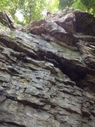 Rock Climbing Photo: Cleaning Good Day to Die; Firefly ends before the ...