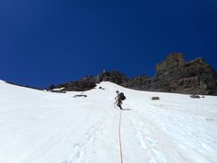 Rock Climbing Photo: Near the top of the Whitman glacier.