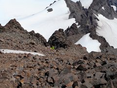 Rock Climbing Photo: The start of the rock section on Little Tahoma.