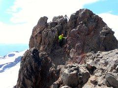 Rock Climbing Photo: 3rd class section near the summit.