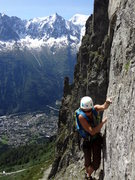 Rock Climbing Photo: Top of Pitch 2 of Voie Frison-Roche.