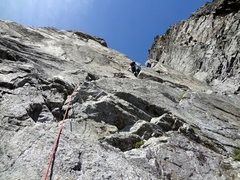 Rock Climbing Photo: Pitch 3 of Voie Frison-Roche