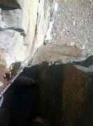 Rock Climbing Photo: Sorry for the poor quality pic, but at this point ...