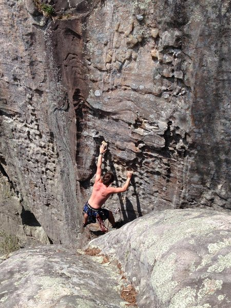 Rock Climbing Photo: lead fall on an unknown route