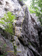 Rock Climbing Photo: One of the very good 10b's in Rumney. Will never b...