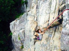 Rock Climbing Photo: Melissa at the overhang