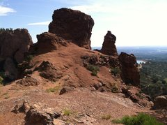 Rock Climbing Photo: On top of The Pinnacle after finishing Crack Paral...