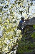 Rock Climbing Photo: Kris Fiore on the FA