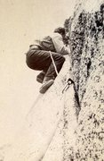 Rock Climbing Photo: John Mendenhall on Fingertip Traverse (5.3), Tahqu...
