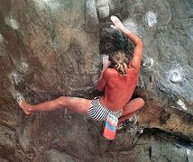 Rock Climbing Photo: Skip Guerin on Around the World (V?), Eldorado Can...