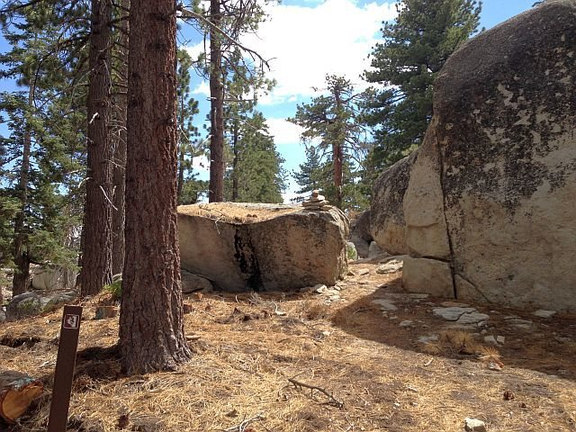 A portion of the trail to Black Bluff, Big Bear South