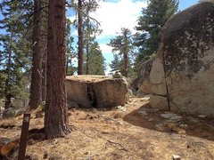 Rock Climbing Photo: A portion of the trail to Black Bluff, Big Bear So...