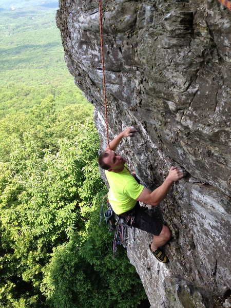 Rock Climbing Photo: Past the business on the headwall.