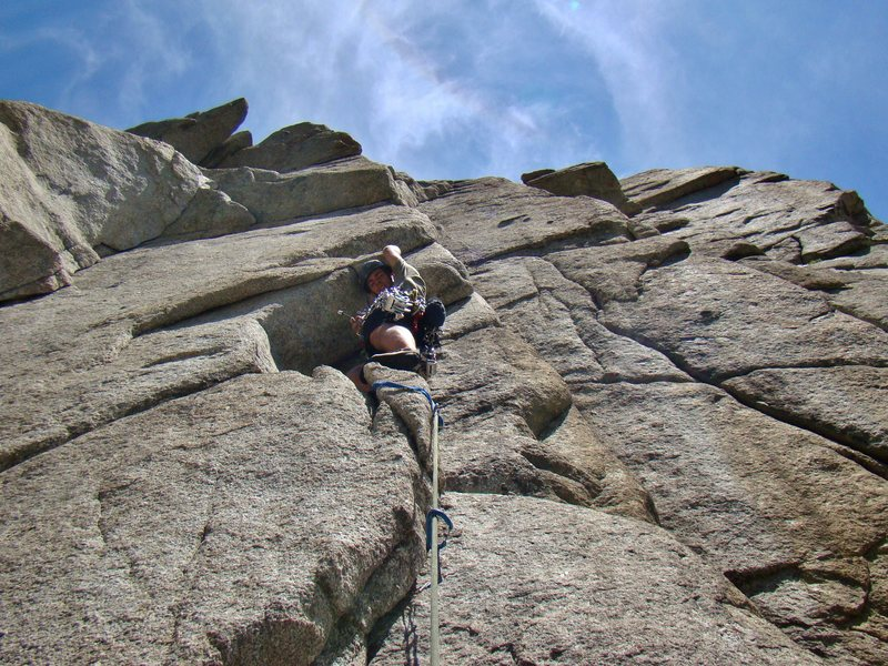 Rock Climbing Photo: you can see the excessive large hexes I brought du...