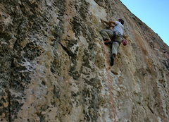 Rock Climbing Photo: Alan G. with some unusual hand beta