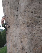 Rock Climbing Photo: Stow K. Happy in Slavery
