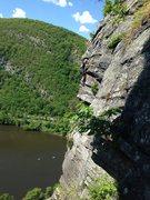 Rock Climbing Photo: Airy traverse