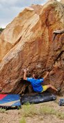 Rock Climbing Photo: Making the first move to the mono-pocket on Chessp...
