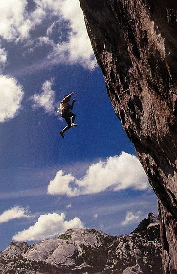 Tony Yaniro off Remora (5.13d), City of Rocks<br> <br> Photo by Randy Leavitt