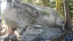 Rock Climbing Photo: Another pic of the Hidden Boulder in this one I th...
