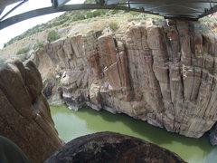 Rock Climbing Photo: Bridge swing