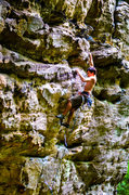 """Rock Climbing Photo: Leading up the wonderful route """"Creep Show&qu..."""