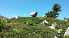 Rock Climbing Photo: Awesome looking erratic. But in the land of illusi...