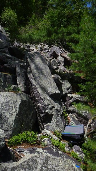Rock Climbing Photo: Green Slab