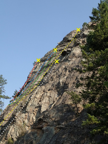 The Ledge Topo (from the Upper SE Face)