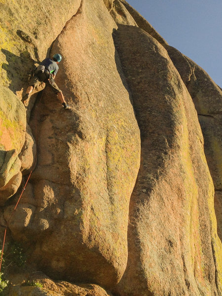 Rock Climbing Photo: Getting into the business.  Photo taken by Nate Sy...