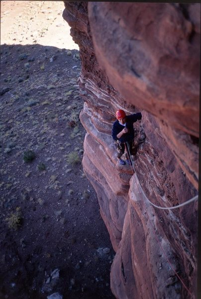 Rock Climbing Photo: Ralph E Burns, Pitch 1.