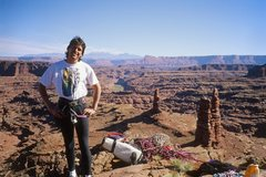 Rock Climbing Photo: RalphE on summit, FA, 1999. The J-Rat shirt kinda ...